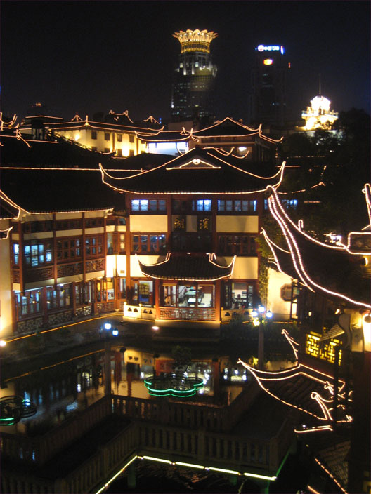 Yuyuan by night